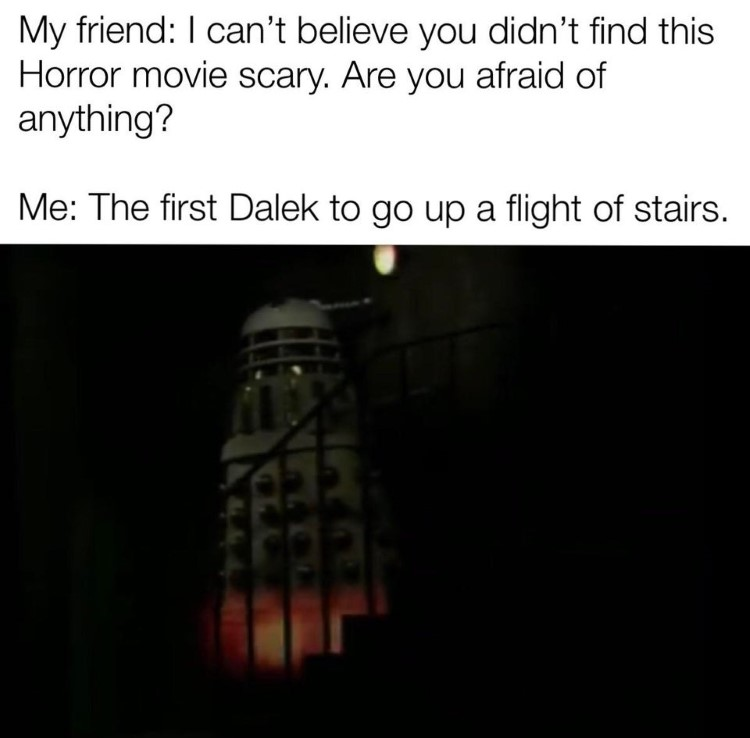 The first dalek to go up flight of stairs meme