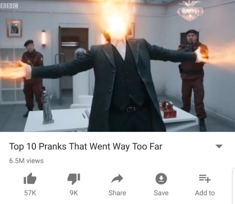 Top 10 pranks too far, Dr Who meme