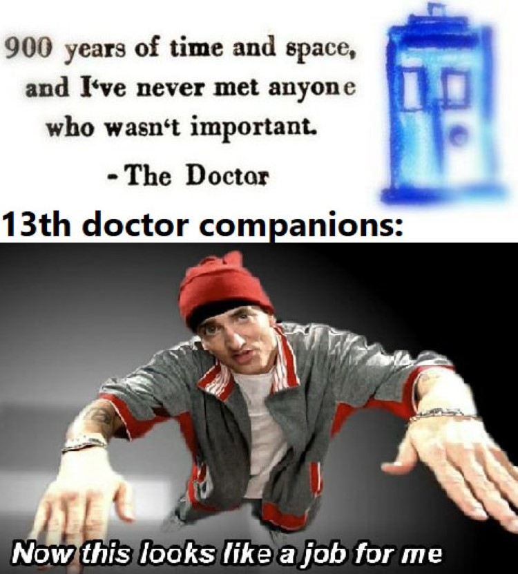 13th doctor companions, Now this looks like a job for me