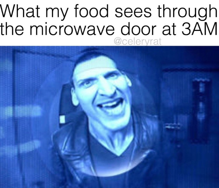 What my food sees through microwave? Dr Who meme