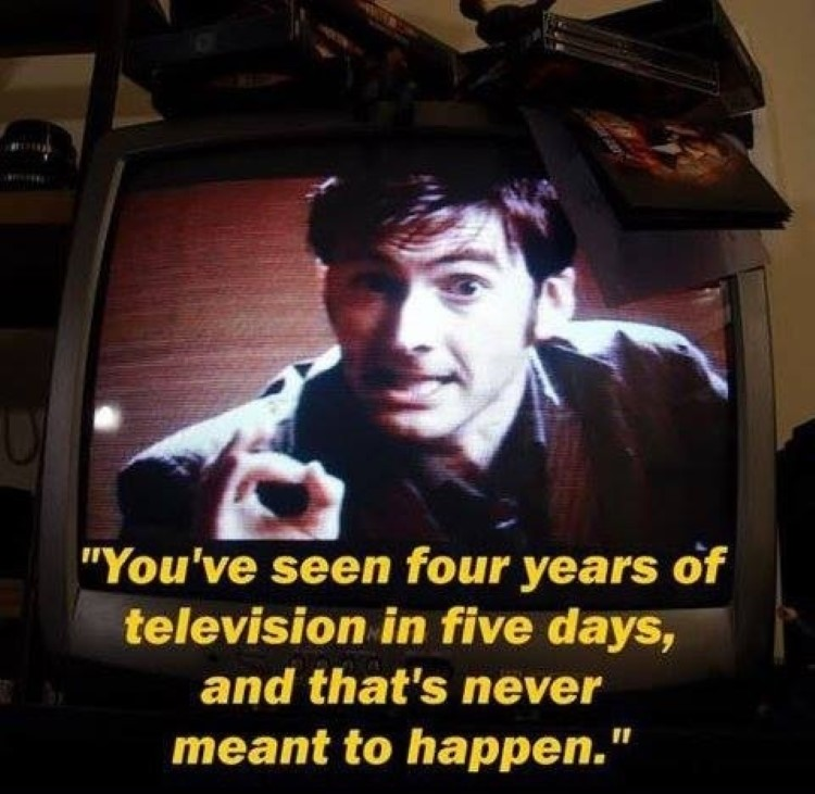 Four years of television, thats never meant to happen