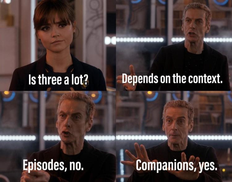 Episodes? No. Companions, yes. DrWho Context meme