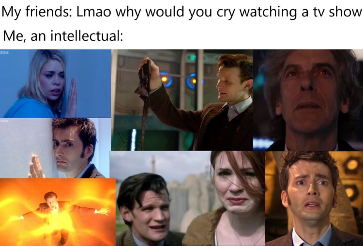 Why would you cry watching a TV show? Dr Who meme