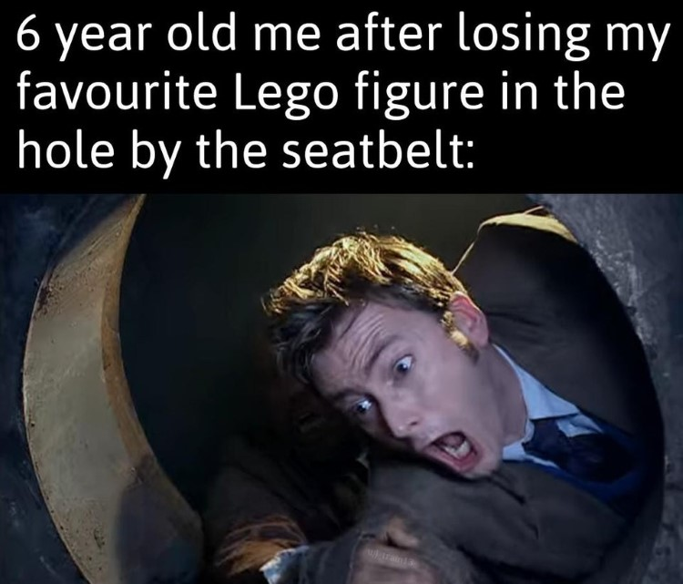 6-year-old me losing my favourite Lego set, Dr Who British