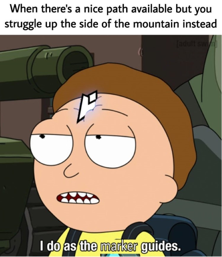 I do as the marker guides, Morty crossover meme