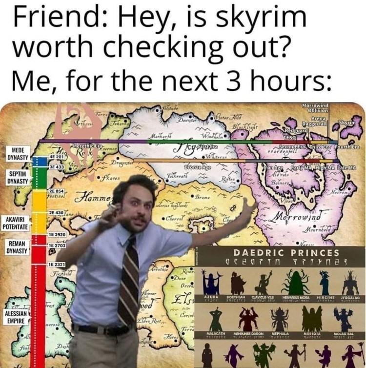 Hey is Skyrim worth checking out? Crazy rant meme