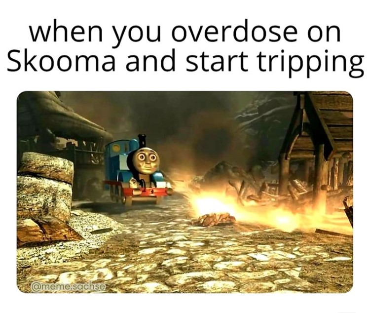 Overdose on Skooma and start tripping meme