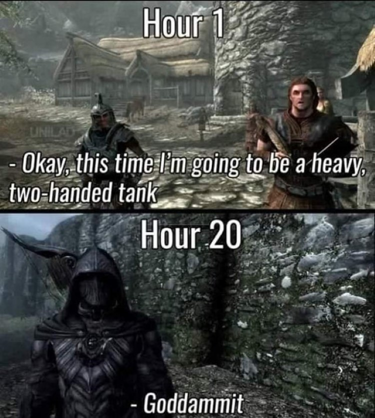 Hour20 godddammit meme Skyrim