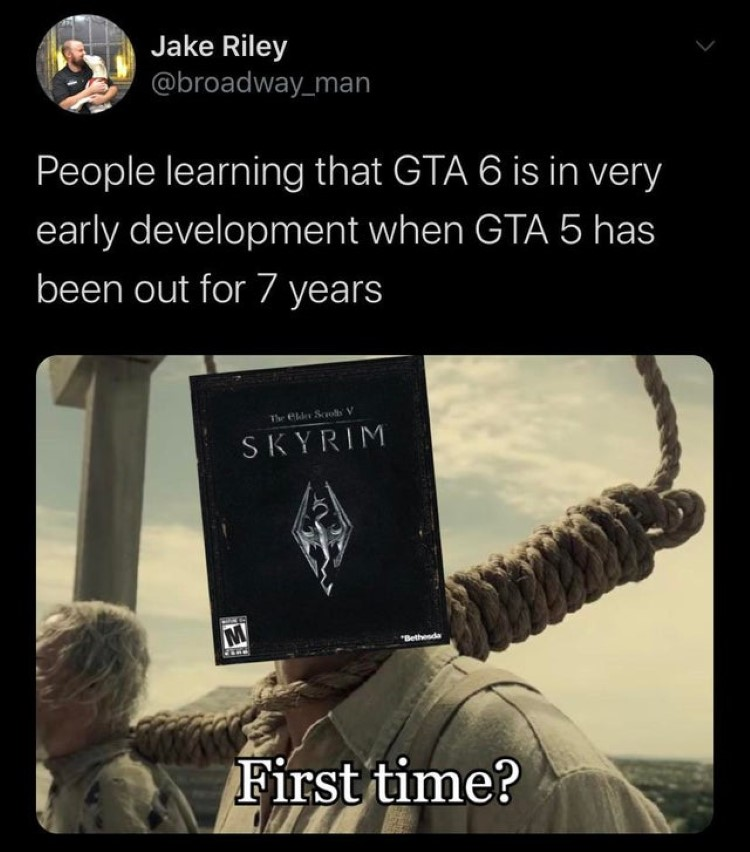Waiting for TES 6 to release meme