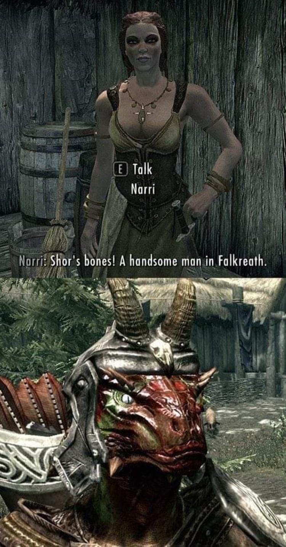 Shors bones! A handsome man in Falkreath!
