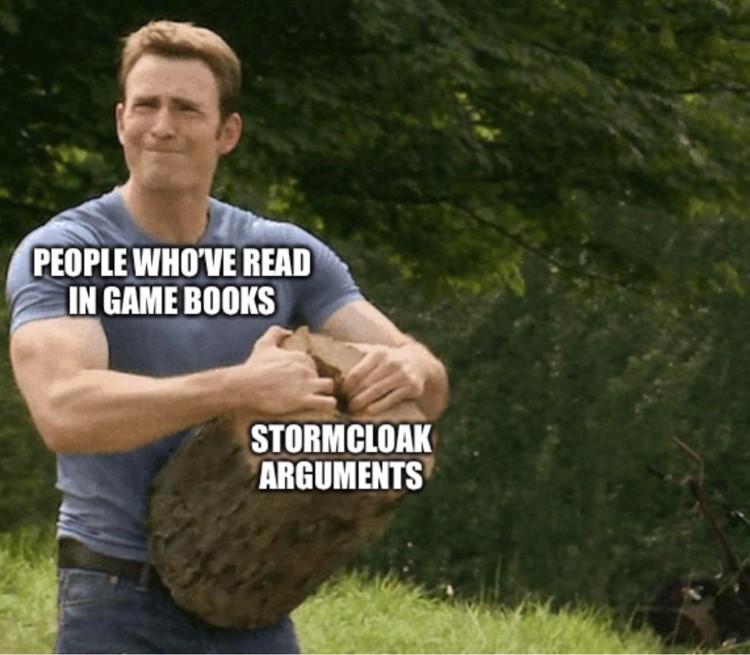 Stormcloak arguments meme