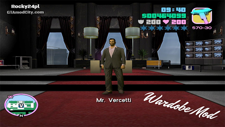 Vice City Wardrobe Mod