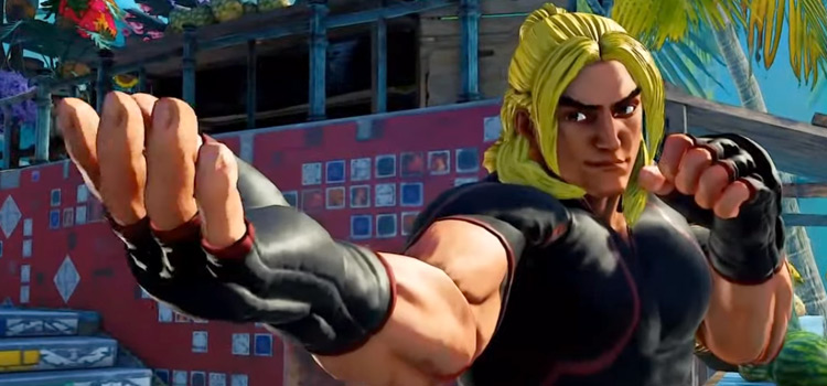 Ken Masters in Street Fighter 5 Posing