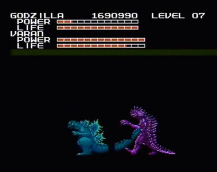 Godzilla: Monster of Monsters NES gameplay