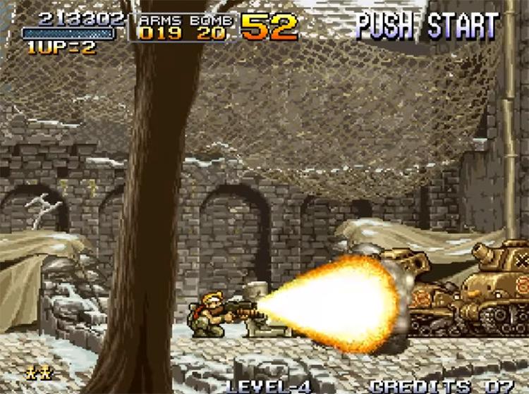 Metal Slug 1 gameplay NeoGeo