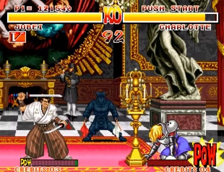 Samurai Shodown 1 gameplay NeoGeo