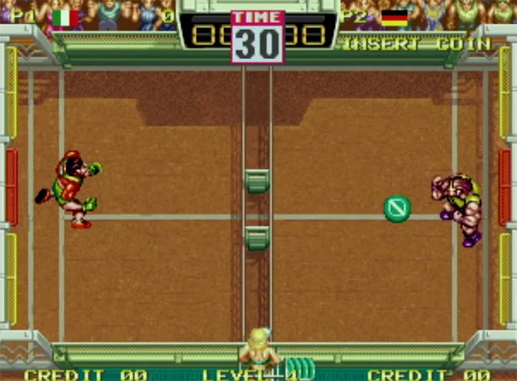 Windjammers NeoGeo game screenshot
