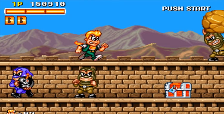 Spinmaster Neo Geo gameplay