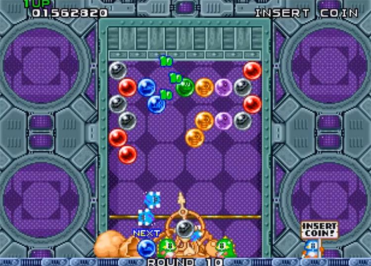 Puzzle Bobble screenshot on NeoGeo