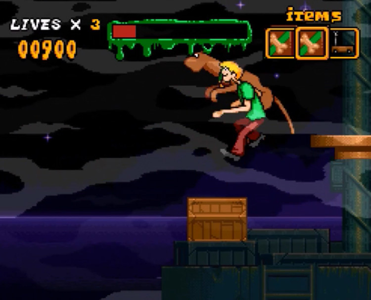 Scooby-Doo Mystery (1995) gameplay screenshot from SNES