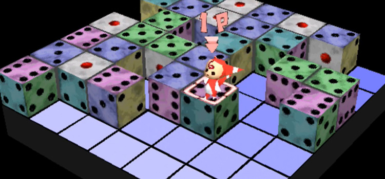 Devil Dice PS1 puzzle gameplay screenshot
