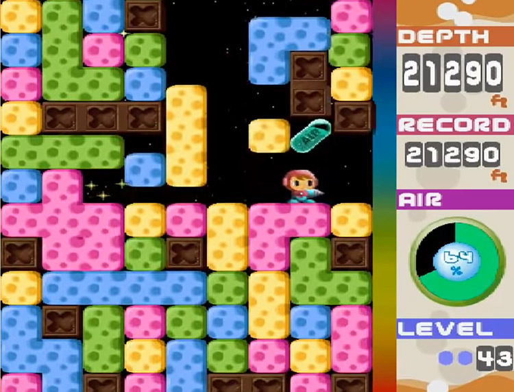 Mr. Driller PS1 gameplay
