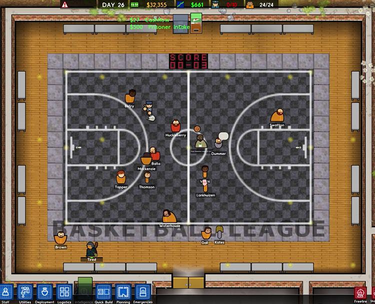 Real-time Basketball Prison Architect Mod Screenshot