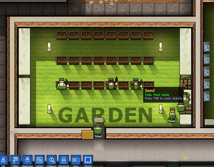 Simple Garden Prison Architect Mod Screenshot