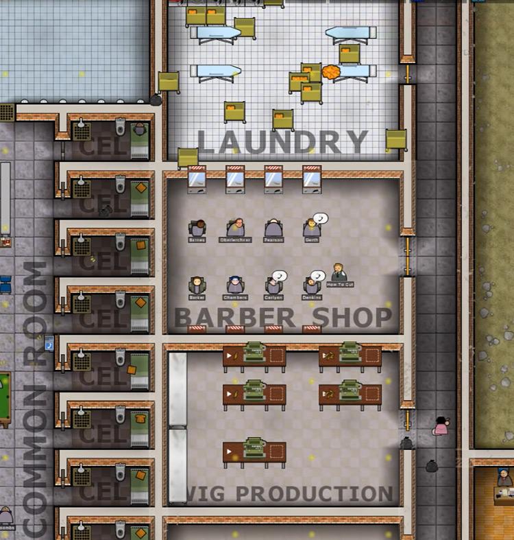 BarberMod Prison Architect Screenshot