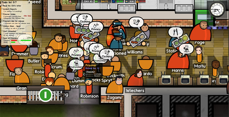 Clearer Needs Icons Prison Architect Mod gameplay