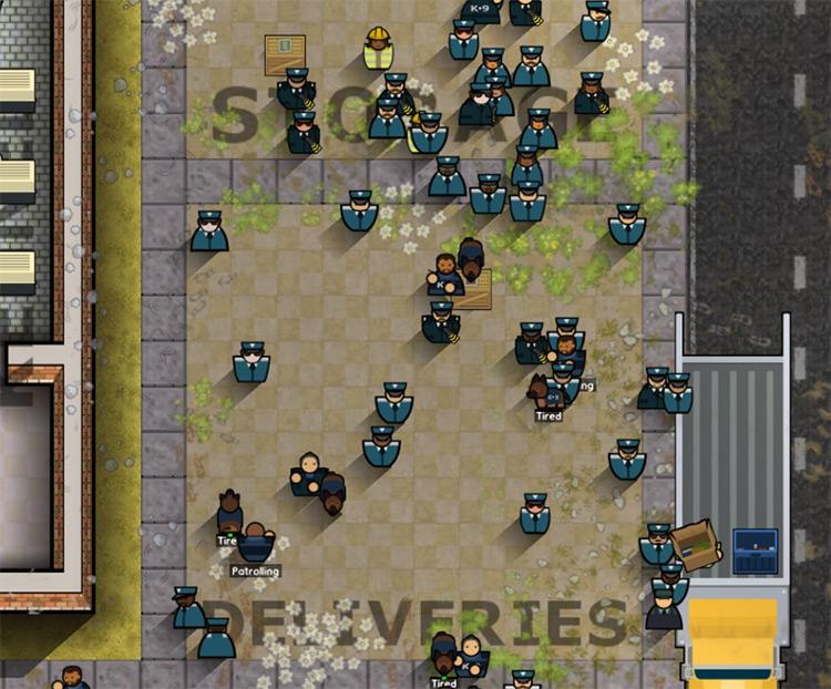 Additional Guard Sprites Prison Architect Mod Screenshot