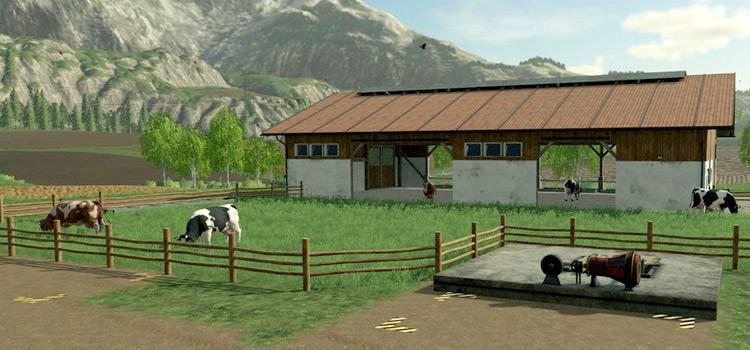 Cattle grazing screenshot of Farming Simulator 19