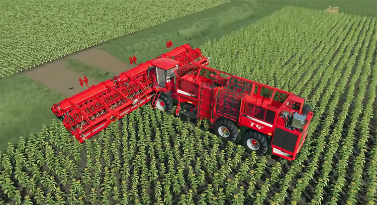 TripleWide fruit harvester tractor Farming Simulator Mod