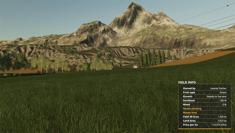 Additional Field Info Farming Simulator Mod