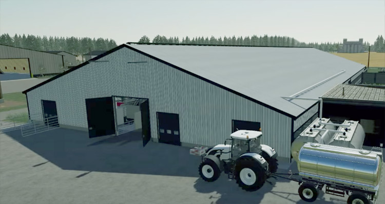 Big US Cowshed Farming Simulator Mod