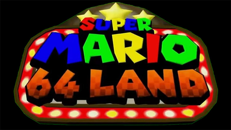 Super Mario 64 Land Super Mario 64 ROM Hack Screenshot