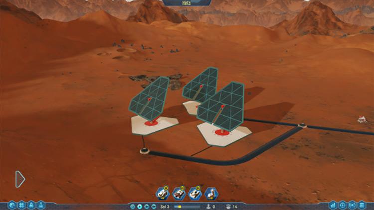 Shadowed Solar Panels Surviving Mars Mod