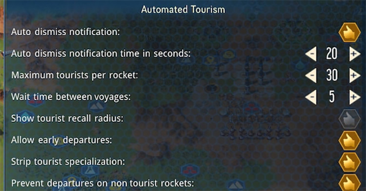 Automated Tourism Surviving Mars Mod