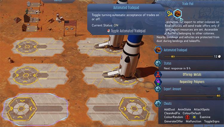 Automated Tradepad Surviving Mars Mod