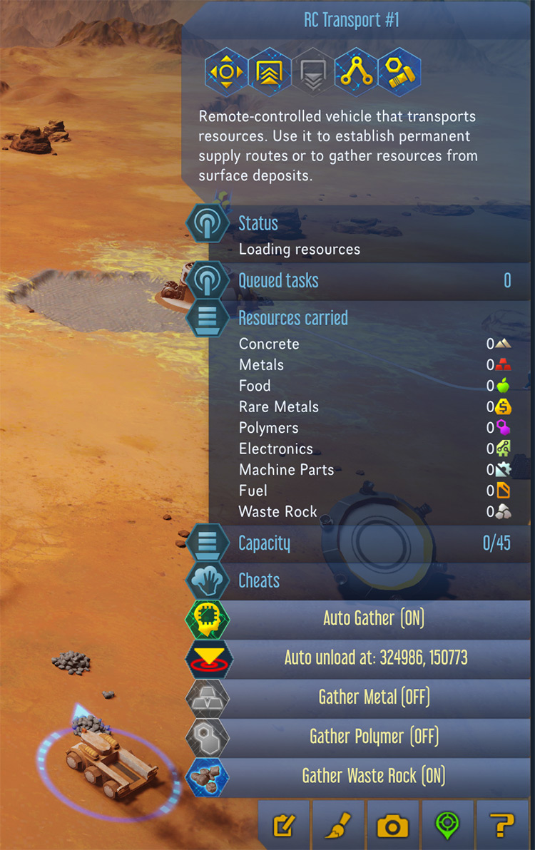 AutoGatherTransport Surviving Mars Mod