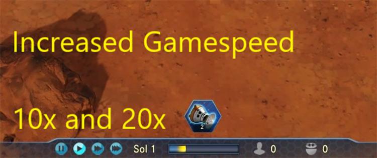 Warp Speed (x10/x20) Surviving Mars Mod