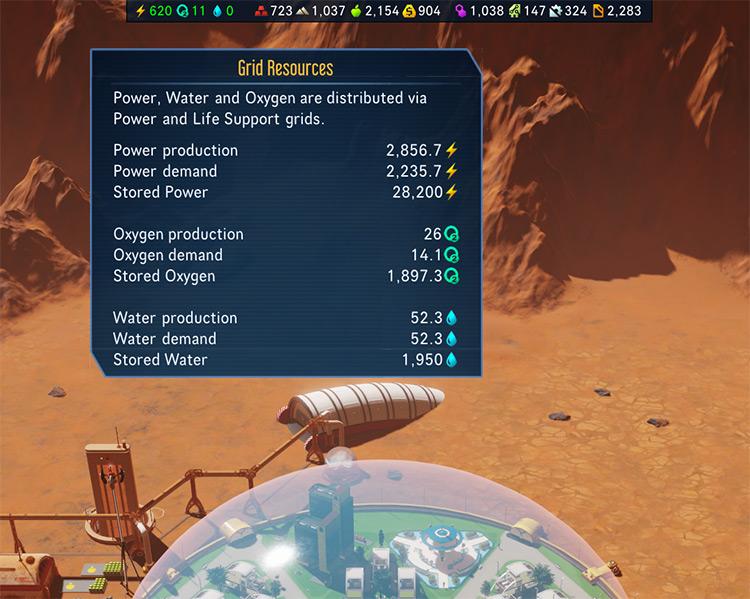 Info Bar Surviving Mars Mod