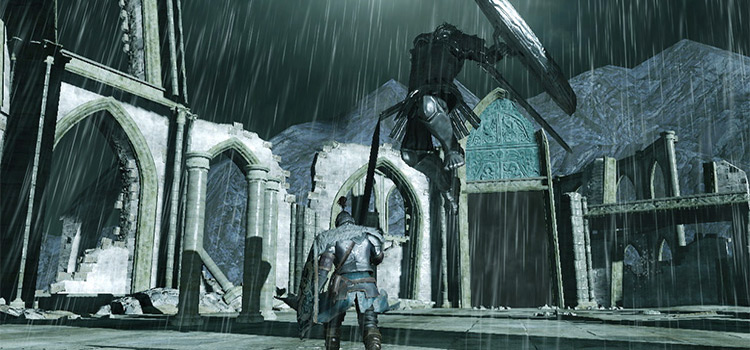 Dark Souls 2- Rainy battle