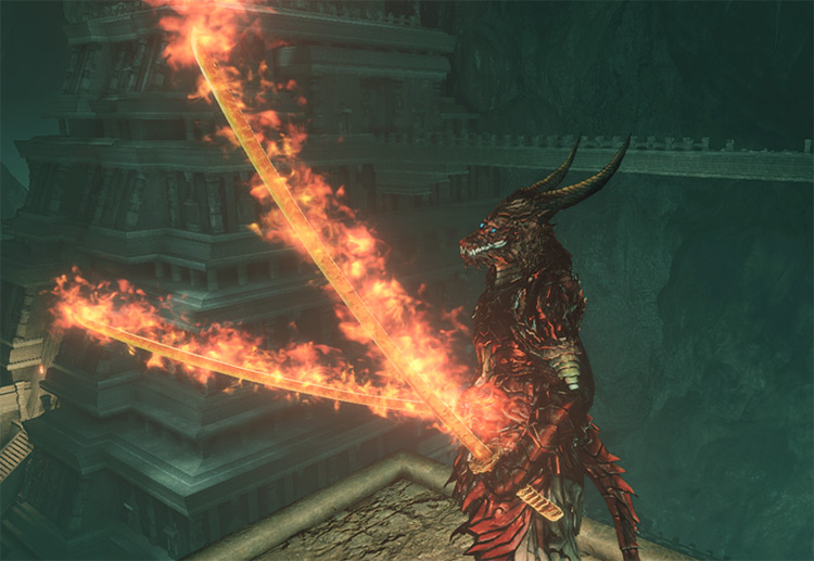 WEP005-Prominence Chaos Blade Dark Souls 2 Mod