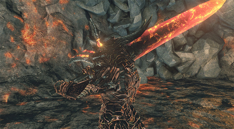 WEP006-Blaze Smelter Sword Dark Souls 2 Mod
