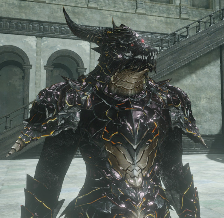 AMS001- Black Dragon Armor I Dark Souls 2 Mod