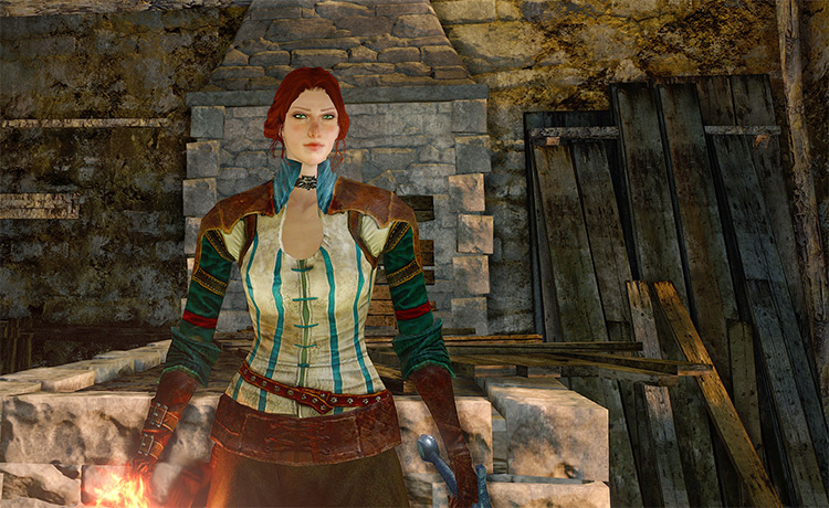 The Witcher - Triss Merigold Armor Dark Souls 2 Mod
