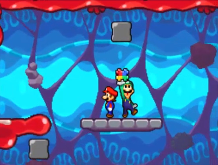 Mario & Luigi: Bowser's Inside Story NDS Gameplay