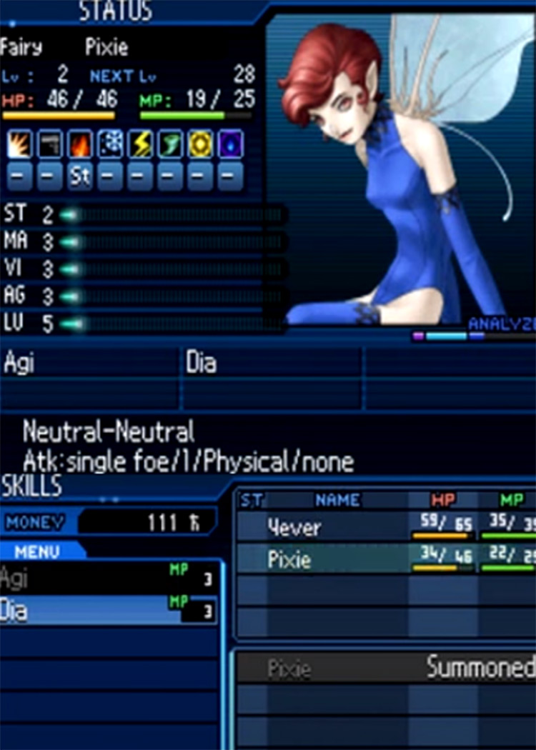 Shin Megami Tensei: Strange Journey Game Screenshot