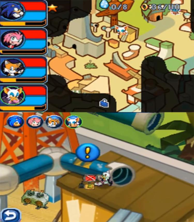 Sonic Chronicles: The Dark Brotherhood Gameplay Screenshot